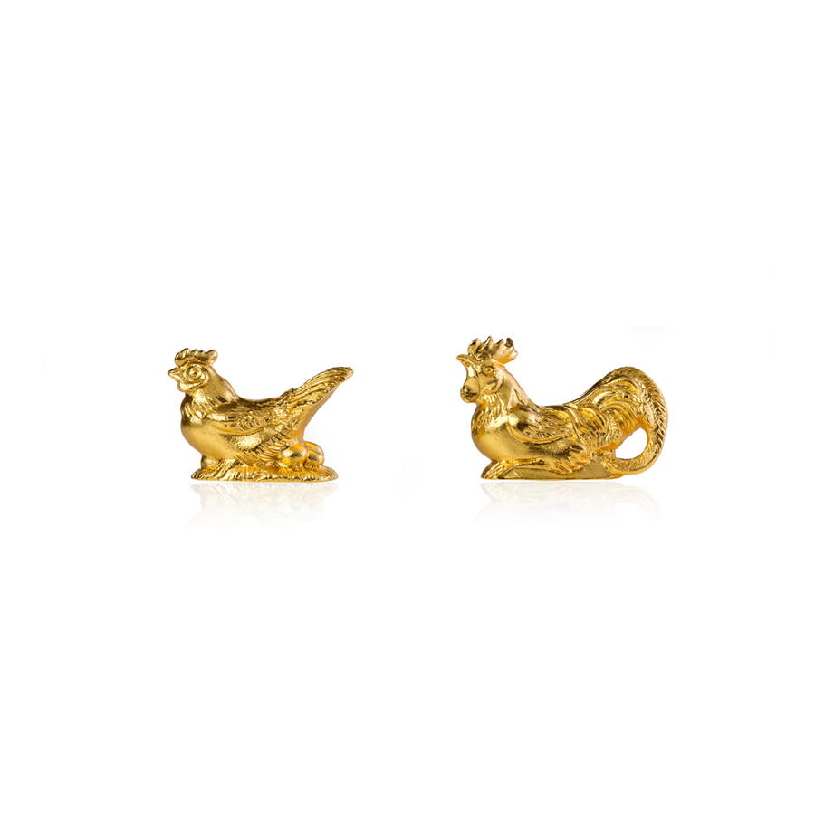 Rooster and Hen Chopstick Rests