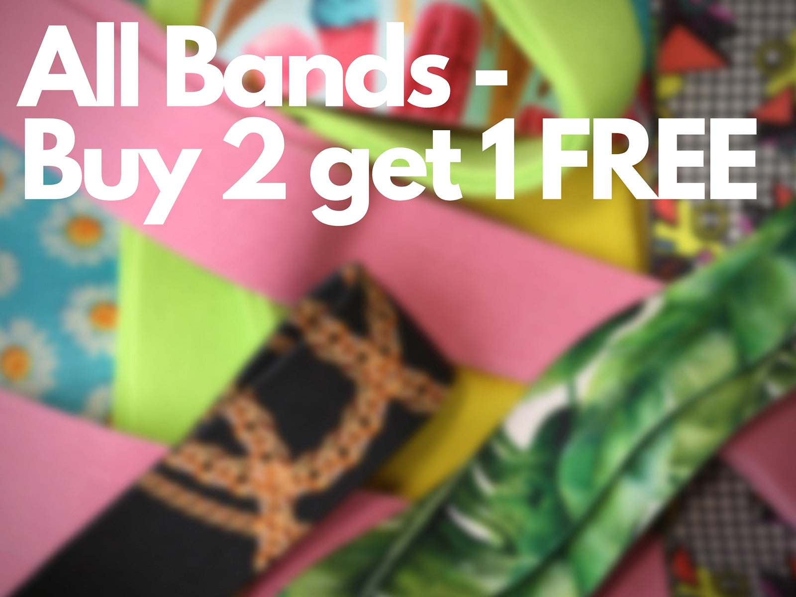 all resistance bands buy two, get one free