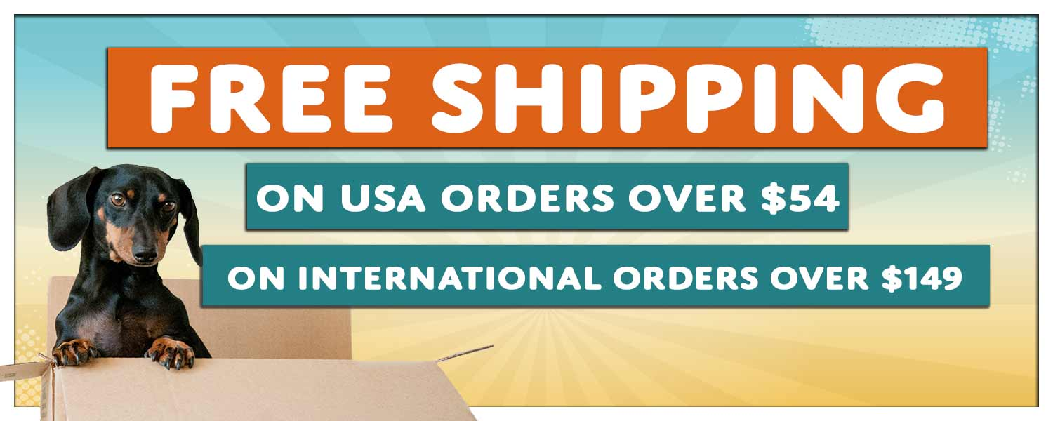 Free Shipping on USA orders over $49 and International orders over $149