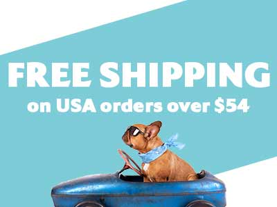Free Shipping on USA orders over $54
