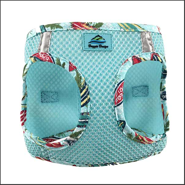 Hawaiian Trim Dog Harness - Step In - Choke Free - pooche supplies