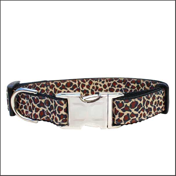 Leaping Leopard Dog Collar - pooche supplies