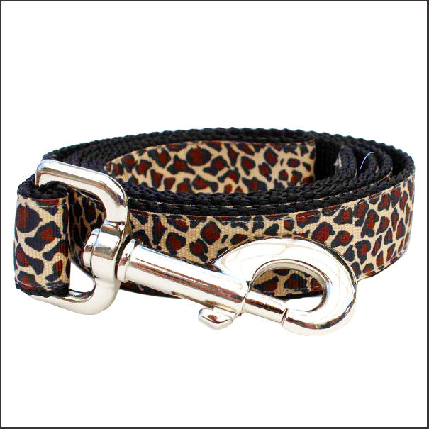 Leaping Leopard Dog Leash - pooche supplies