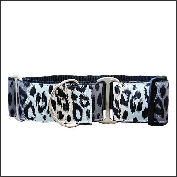 Midnight Leopard Martingale Dog Collar - pooche supplies
