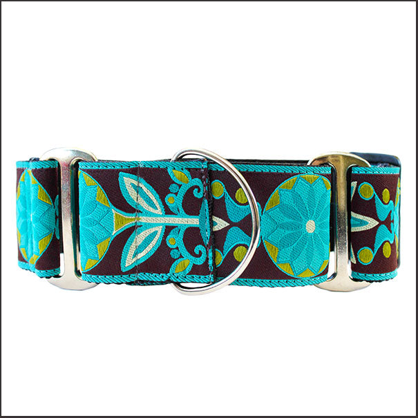 Boho Peacock Martingale Dog Collar - pooche supplies