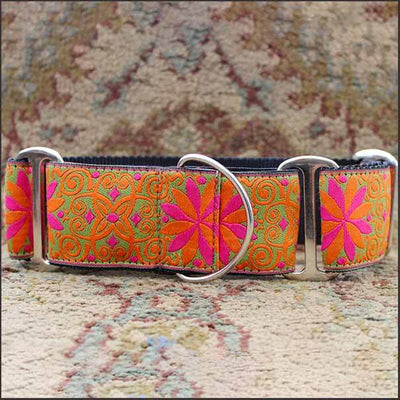 Pinwheel Mexicali Sunset Martingale Dog Collar - pooche supplies