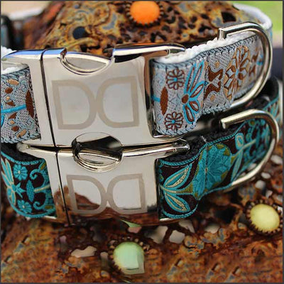 Boho Peacock Dog Collar - pooche supplies