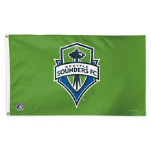 Load image into Gallery viewer, 3x5 Seattle Sounders FC Team Flag; Polyester H&G
