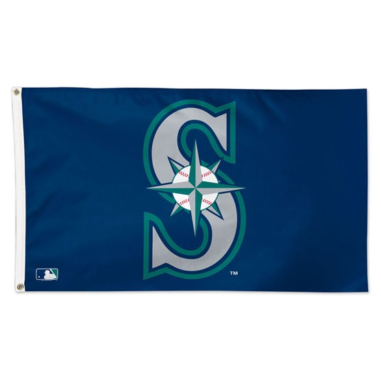 Load image into Gallery viewer, 3x5 Seattle Mariners Team Flag; Polyester H&G