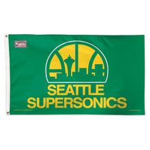 Load image into Gallery viewer, 3x5 Seattle Supersonics Team Flag; Polyester H&G