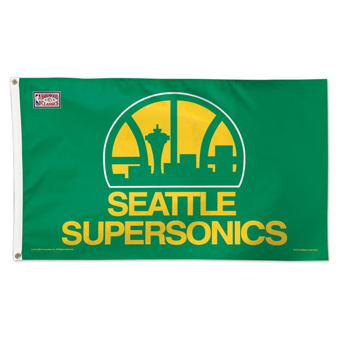 3x5 Seattle Supersonics Team Flag; Polyester H&G