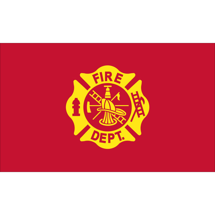 3x5 Fire Department Outdoor Nylon Flag