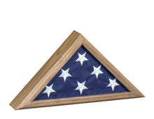 Load image into Gallery viewer, Oak Finish Wood Flag Case for 3x5 Flag