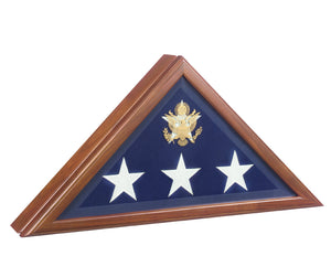 Walnut Finish Wood Flag Case for 5x9.5 Flag