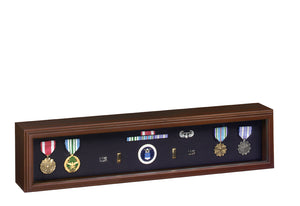 Cherry Finish Wood Medal Display Case