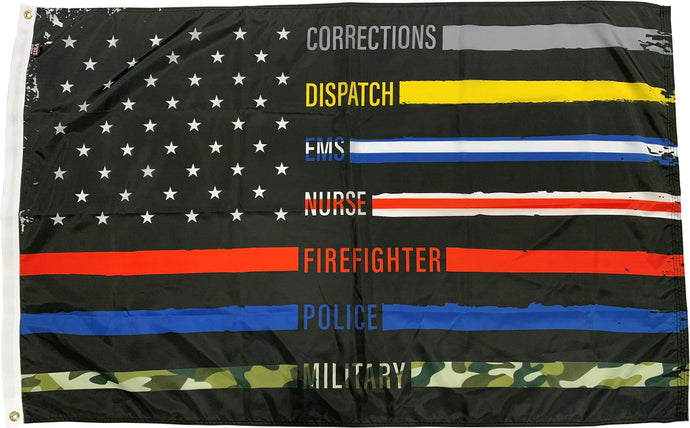 2x3 First Responder Thank You Outdoor Nylon Flag