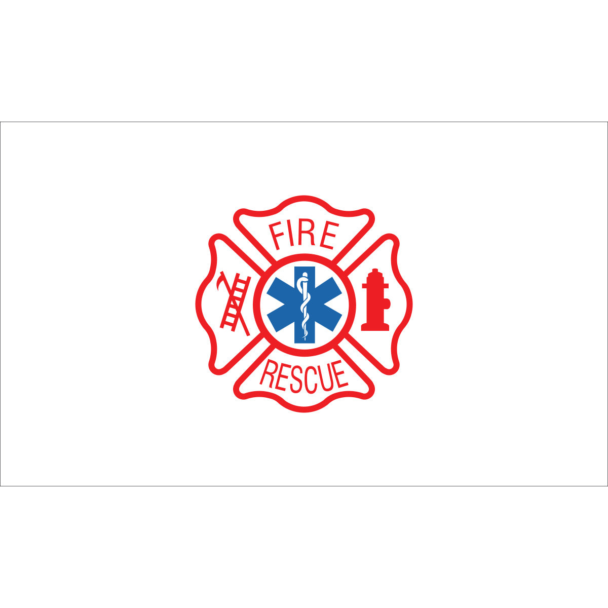 Load image into Gallery viewer, 3x5 Fire Rescue Outdoor Nylon Flag
