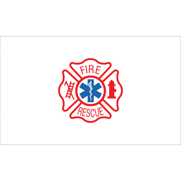 3x5 Fire Rescue Outdoor Nylon Flag