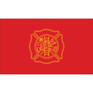 3x5 Firefighters Outdoor Nylon Flag