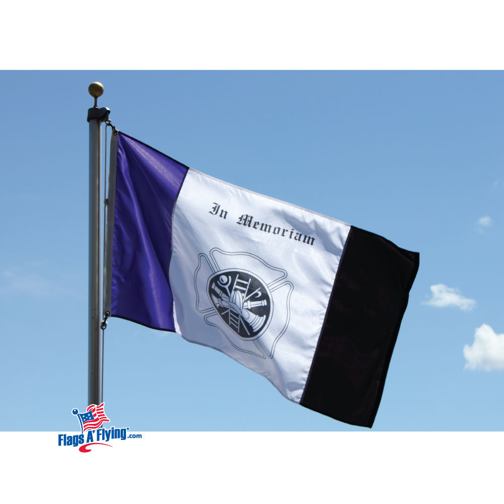 Load image into Gallery viewer, 3x5 Fireman In Memoriam Outdoor Nylon Flag