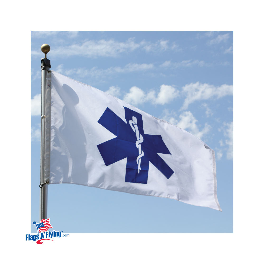 Load image into Gallery viewer, 3x5 Star of Life Outdoor Nylon Flag