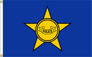 3x5 Police Department Outdoor Nylon Flag