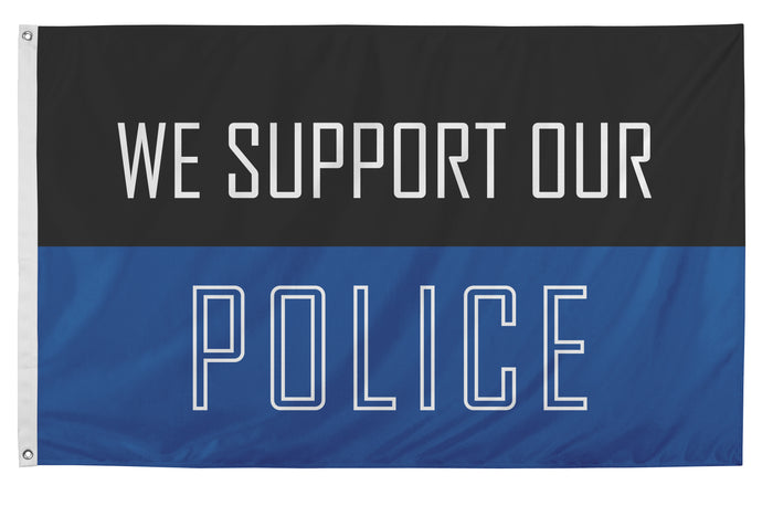3x5 We Support Our Police Outdoor Nylon Flag