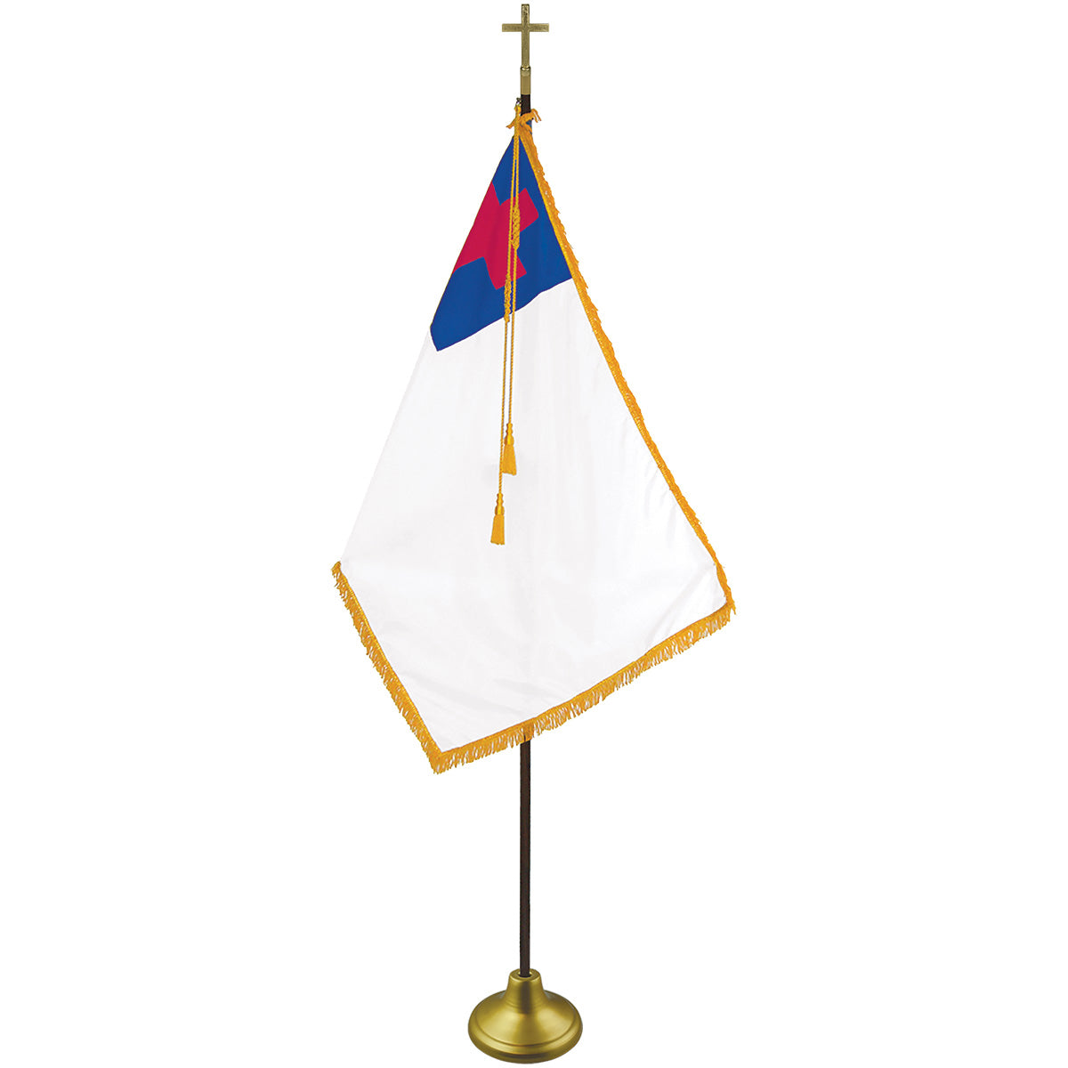 Load image into Gallery viewer, 4x6 Christian Printed Nylon Indoor/Parade Flag with Polehem & Fringe