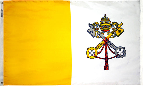 Load image into Gallery viewer, 3x5 Papal Outdoor Nylon Flag
