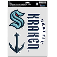 "Load image into Gallery viewer, 5.5""x7.75"" Seattle Kraken Multi-Use Decal Sheet"