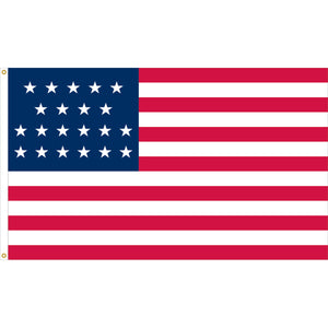 4x6 21 Star Historical Nylon Flag