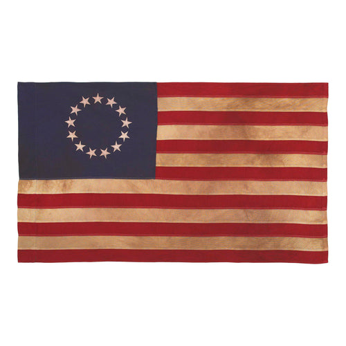 2.5x4 Betsy Ross Antiqued Cotton
