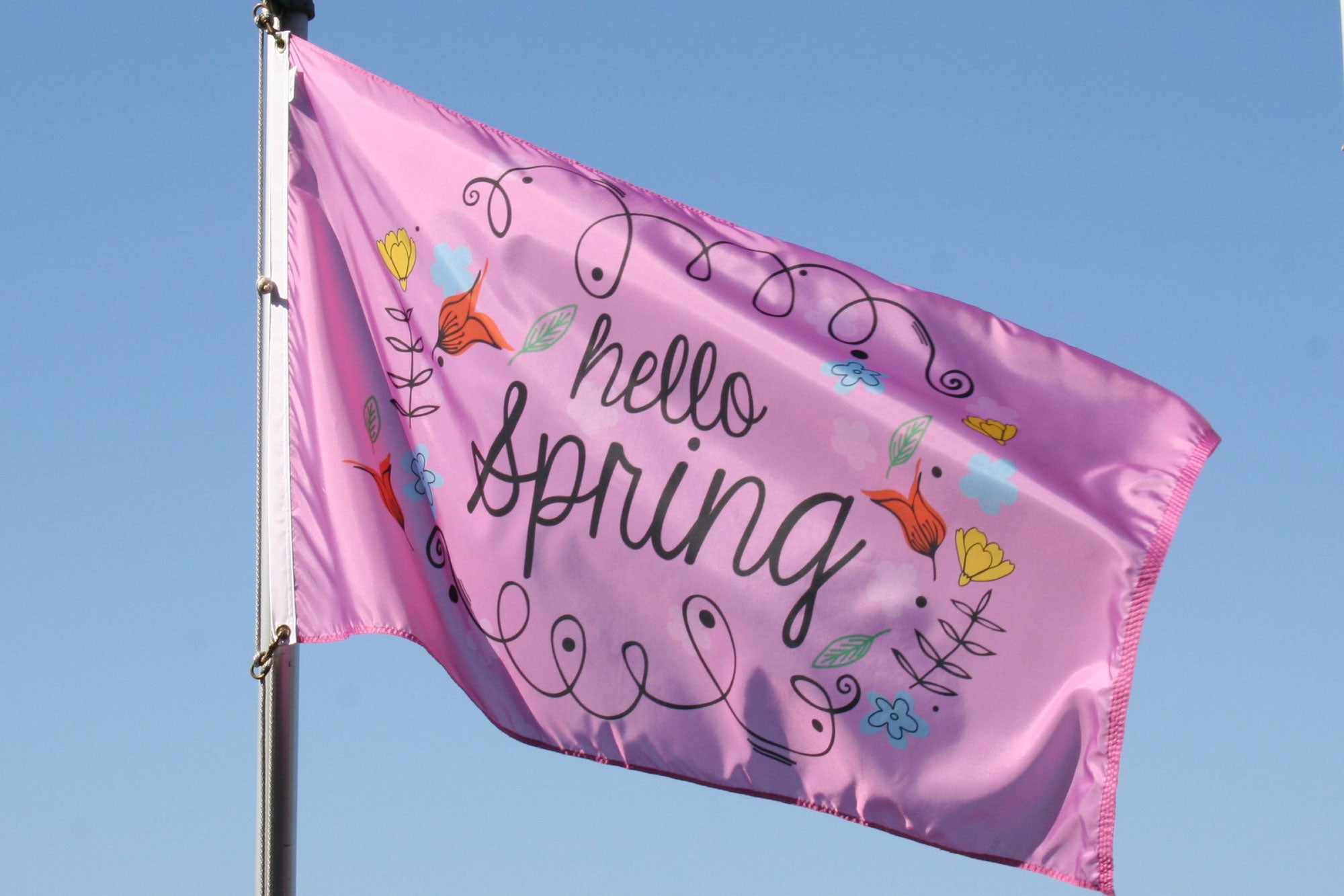 Load image into Gallery viewer, 3x5 Hello Spring Seasonal Outdoor Nylon Flag