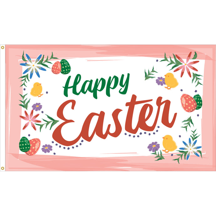 3x5 Happy Easter Colors Seasonal Outdoor Nylon Flag