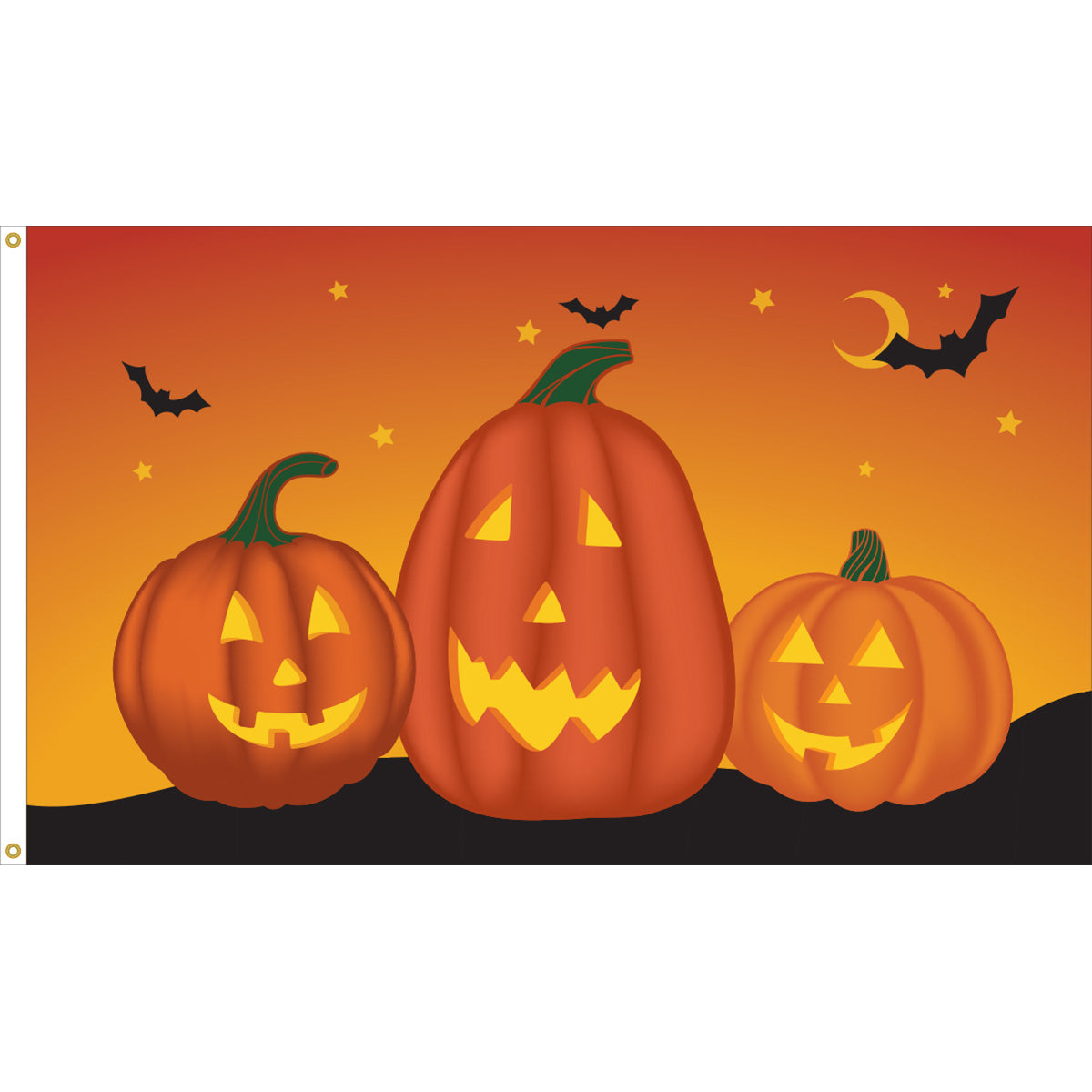 Load image into Gallery viewer, 3x5 Happy Halloween Jacks Seasonal Outdoor Nylon Flag
