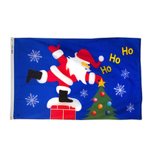 Load image into Gallery viewer, 3x5 Santa on the Roof Seasonal Outdoor Nylon Flag