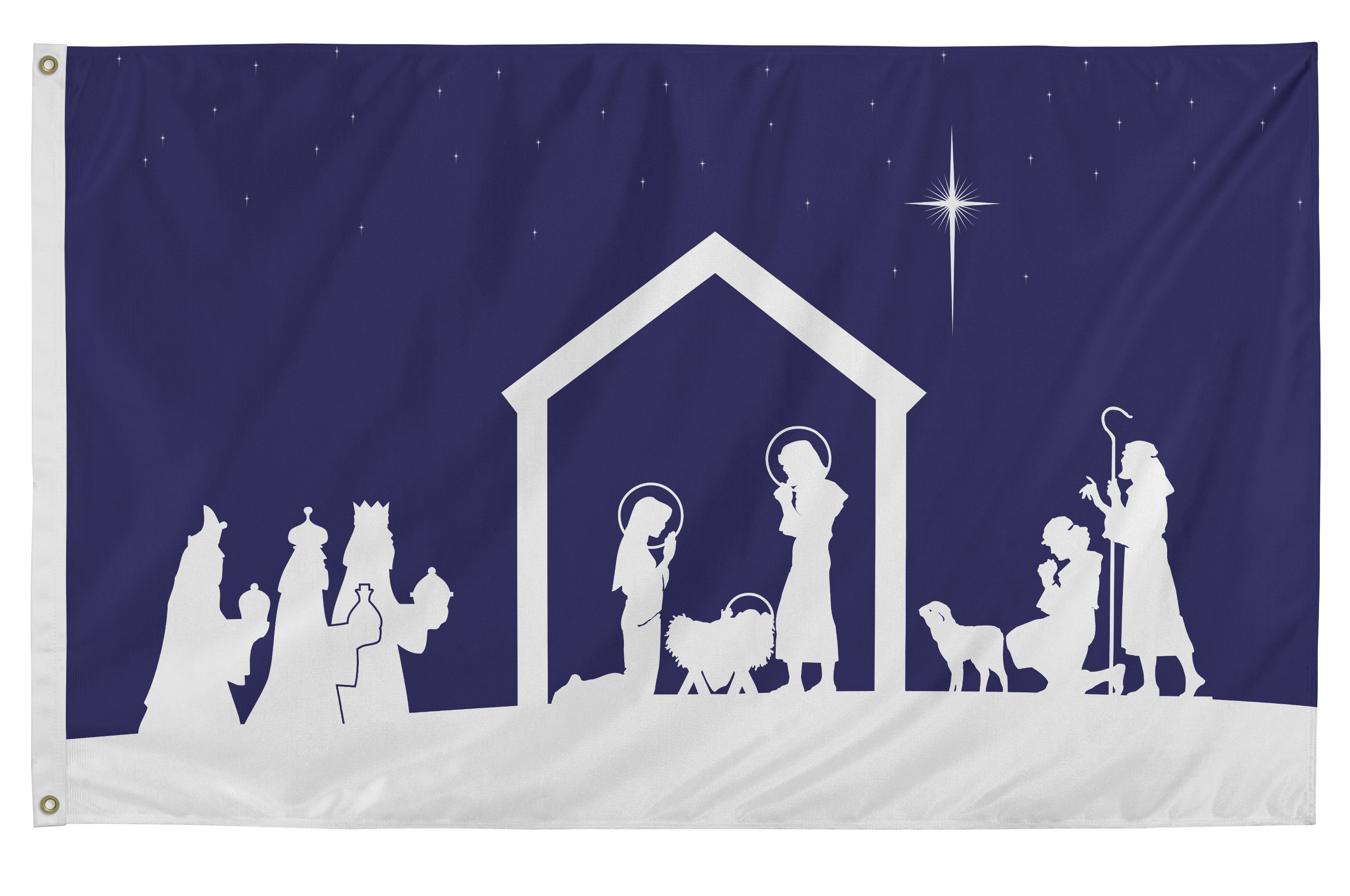 Load image into Gallery viewer, 3x5 Christmas Nativity Scene Seasonal Outdoor Nylon Flag