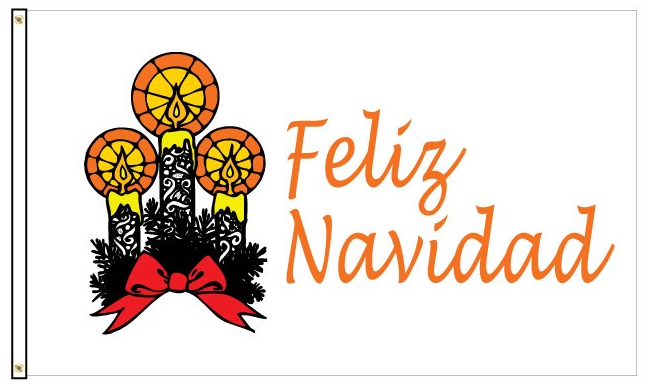 Load image into Gallery viewer, 3x5 Feliz Navidad Seasonal Outdoor Nylon Flag