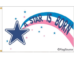 3x5 Star is Born Occasional Outdoor Nylon Flag