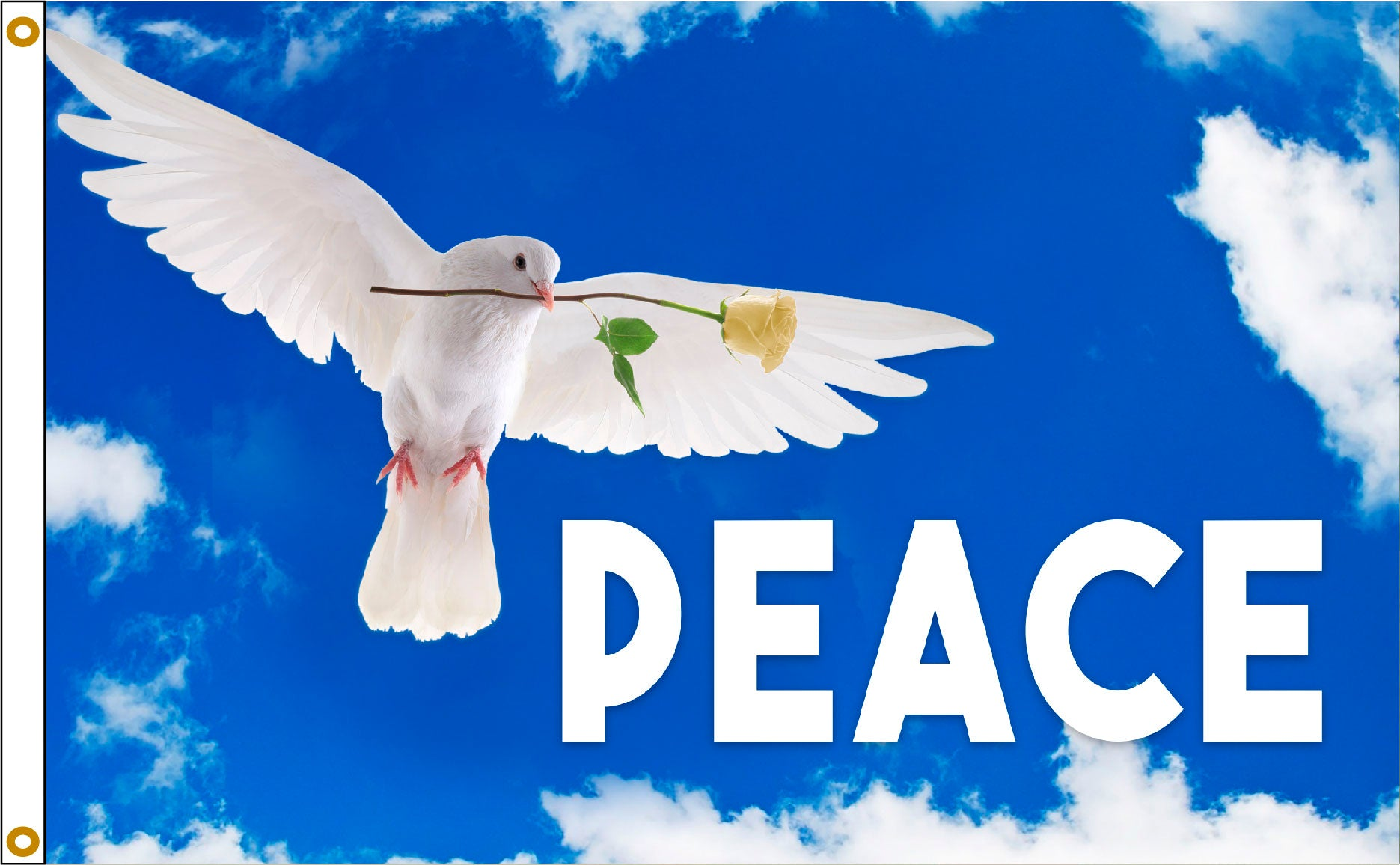 Load image into Gallery viewer, 3x5 Peace Dove Outdoor Nylon Flag