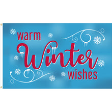 Load image into Gallery viewer, 3x5 Warm Winter Wishes Seasonal Outdoor Nylon Flag