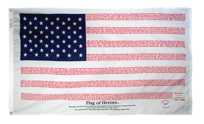3x5 Flag of Heroes Poly-Cotton Flag