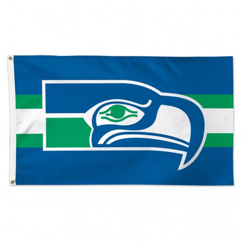 3x5 Seattle Seahawks Classic Retro Team Flag; Polyester H&G