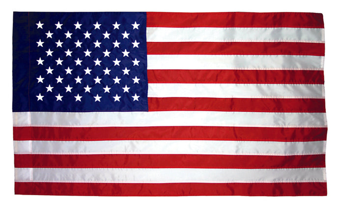 4x6 American Indoor & Parade Sewn Nylon Flag with Sleeve