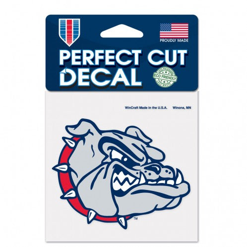 "Load image into Gallery viewer, 4""x4"" Gonzaga Bulldogs Logo Perfect Cut Color Decal"