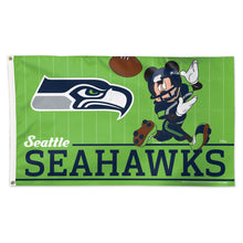 Load image into Gallery viewer, 3x5 Seattle Seahawks with Disney Mickey Mouse Team Flag; Polyester H&G