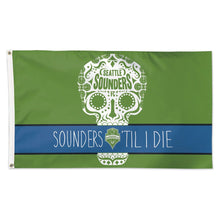 Load image into Gallery viewer, 3x5 Seattle Sounders FC Til I Die Team Flag; Polyester H&G