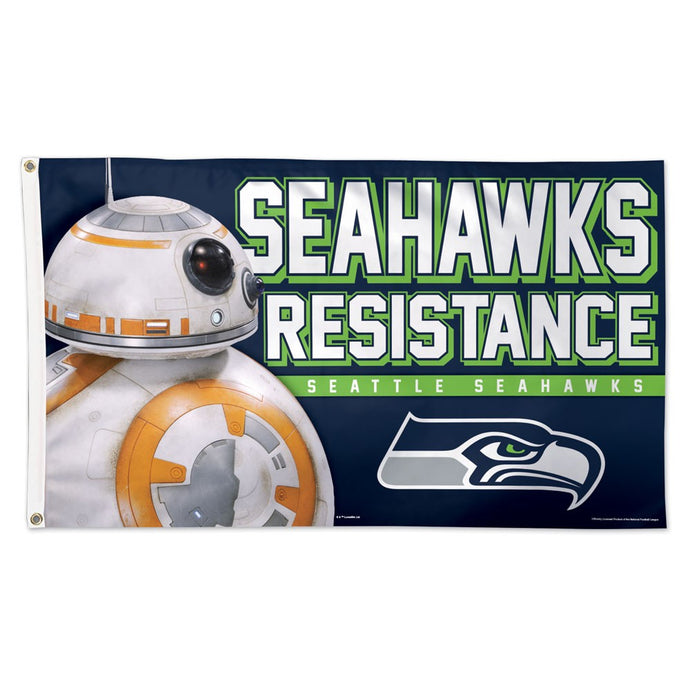 3x5 Seattle Seahawks BB-8 Seahawks Resistance Team Flag; Polyester H&G
