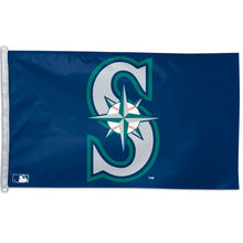Load image into Gallery viewer, 3x5 Seattle Mariners Team Flag; Polyester with Header & D-Rings