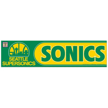 "Load image into Gallery viewer, 3""x12"" Seattle Supersonics Bumper Sticker"